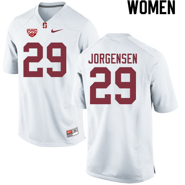 Women #29 Spencer Jorgensen Stanford Cardinal College Football Jerseys Sale-White